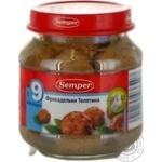 Фрикадельки Семпер з телятини для дітей з 9 місяців скляна банка 125г Іспанія