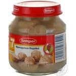 Meatballs Semper made of turkey gluten-free for 7+ month old babies glass jar 135g Spain
