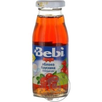 Сік Bebi Premium ябл.брусничний неосвіт.170мл