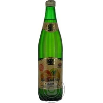 Non-alcoholic sparkling drink on natural flavoring material Elbrus Sitro glass bottle 500ml Ukraine