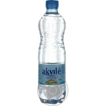 Вода Аквиль негазированная пластиковая бутылка 500мл Литва
