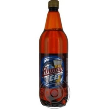 Пиво Янтар Айс Рок светлое 5%об. пластиковая бутылка 1000мл Украина