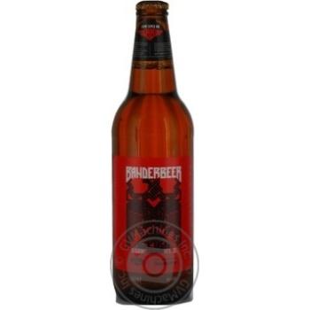 Пиво Калуское Бандербир светлое 11%об. стеклянная бутылка 500мл Украина