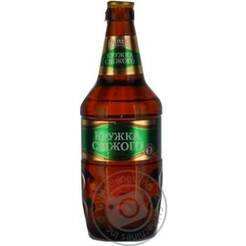 Пиво Сармат Кружка Свежего светлое пастеризованное стеклянная бутылка 4.9%об. 500мл Украина