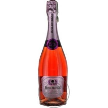 Sparkling wine Bolgrad pink semisweet 10.5% 750ml glass bottle Ukraine