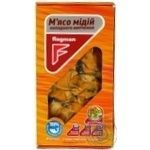 Seafood mussles Flagman mussles cold-smoked 250g Ukraine