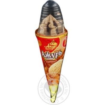 Ice-cream Azhur Ajur milk chocolate 140g packaged Ukraine
