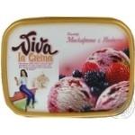 Морозиво Маскарпоне з ягодами Viva la Crema 605г