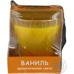 Підсвічник скляний Ningbo з ароматизованим наповненням SAB-795 90*70*50мм ваніль