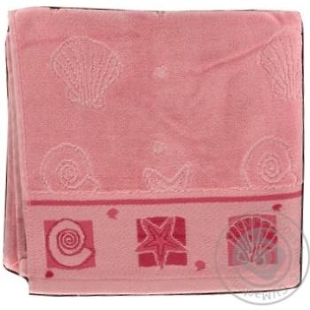 Рушник банний Ozdilek 50*90 рожевий 76-138-008