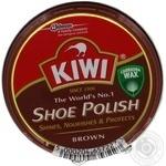 Крем для взуття Kiwi в банці коричневий 50мл - купити, ціни на МегаМаркет - фото 1