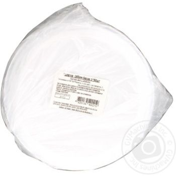 Тарелка белая 165мм 50шт - купить, цены на Метро - фото 2