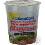 Десерт творожный Смачненький Машенька с какао 5% пластиковый стакан 180г Украина
