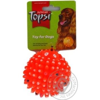 Игрушка Topsi Ежик винил для собак 7см