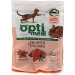 Корм сухий Optimeal для дорослих котів з лососем та креветками 300г