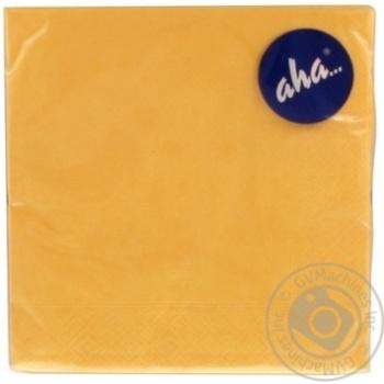 Серветки паперові трьохшарові Aha 33*33см 20шт