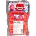 Sausages Lugansk delicacies Milky pork artificial casing 325g