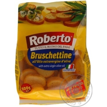 Сухарики Roberto Bruschettine оливкова олія 100г х6
