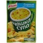 Сырный суп Knorr Чашка Супа с сухариками пакетик 15,6г
