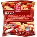 Арахис Файн Лайф жареный соленый со вкусом бекона 35г Украина
