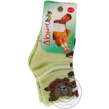 Носки Дюна детские салатовые 8-10р - купить, цены на Фуршет - фото 1