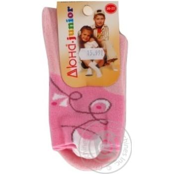 Носки Дюна детские розовые 20-22р - купить, цены на Фуршет - фото 1