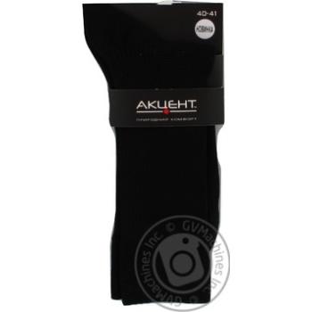 Шкарпетки чоловічі Акцент чорний 0013834825