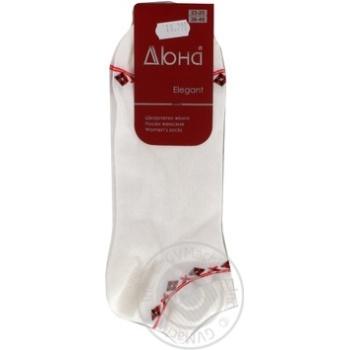 Шкарпетки жіночі 329р.23-25 білий мал. 0204 дюна