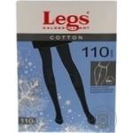 Колготки женские Legs Cotton 110 nero p.4 600 шт