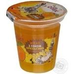 Желе Джоліно Кідз з соком апельсина 130г пластиковий стакан Україна