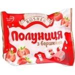 Candy Roshen Strawberry and cream strawberries with cream 300g packaged Ukraine
