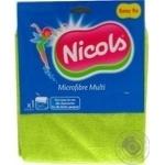 Салфетка Николс микрофибра для уборки 1шт Польша