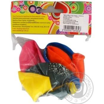 Кулі повітряні Все для свята Party Favors асорті з малюнком 5шт 61130/5 - купити, ціни на Novus - фото 4