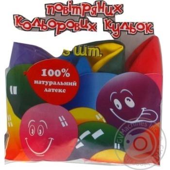 Кулі повітряні Все для свята Party Favors асорті 5шт 61100/5 - купити, ціни на Novus - фото 7