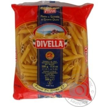 Макаронні вироби Divella Penne Ziti Rigate №27 500г - купити, ціни на Novus - фото 2