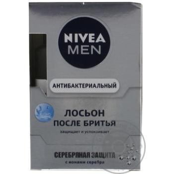 Лосьон Nivea Men Серебряная защита антибактериальный после бритья 100мл - купить, цены на МегаМаркет - фото 3