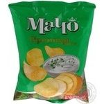 Potato chips Macho Premium with the taste of sour cream with greens 70g Ukraine