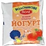 Йогурт Волошкове поле персик 3.2% 450г пленка Украина