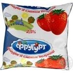 Йогурт Фругурт клубника 2.5% 400г пленка Украина