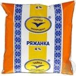 Ряженка Чайка 4% 500г пленка Украина