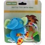 Игрушка-погремушка Baby Team с кольцом Слон - купить, цены на Фуршет - фото 6