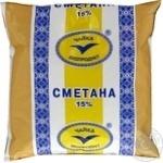 Сметана Чайка 15% 450г пленка Украина