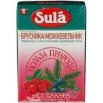 Lollipop Sula Nature's favor cranberries-juniper sugar free for diabetics 40g packaged Russia