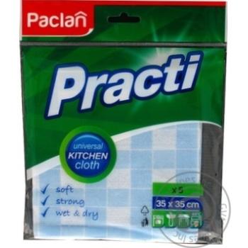 Ганчірка Практі антибактеріальна 35*35см 5шт