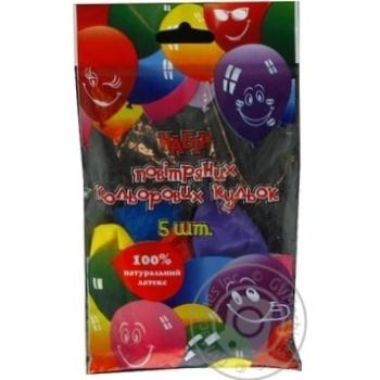 Кулі повітряні Все для свята Party Favors асорті 5шт 61100/5 - купити, ціни на Novus - фото 8