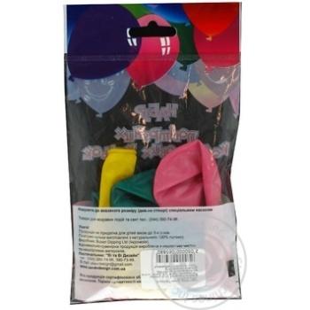 Кулі повітряні Все для свята Party Favors перламутр 5шт 61220/5 - купить, цены на Novus - фото 6