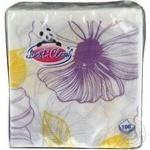 Серветки паперові без запаху Орхідея Вest Clean 100шт