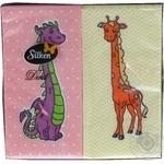 Салфетки Silken Duet целлюлозные двухслойные с печатью Детская 24шт