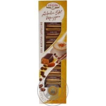 Цукерки марципанові Erasmi Cappuccino в шоколадній глазурі 125г