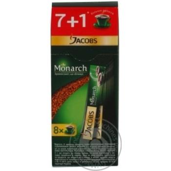 Кофе Якобз Монарх натуральный растворимый сублимированный в стиках 8х2г Германия
